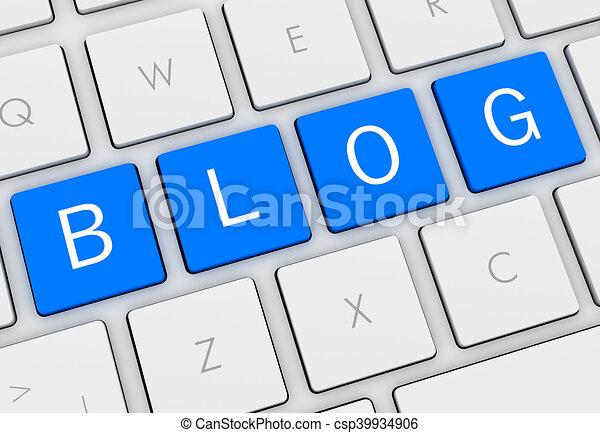 blog keyboard concept illustration - csp39934906