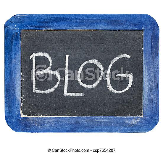 blog on slate blackboard - csp7654287