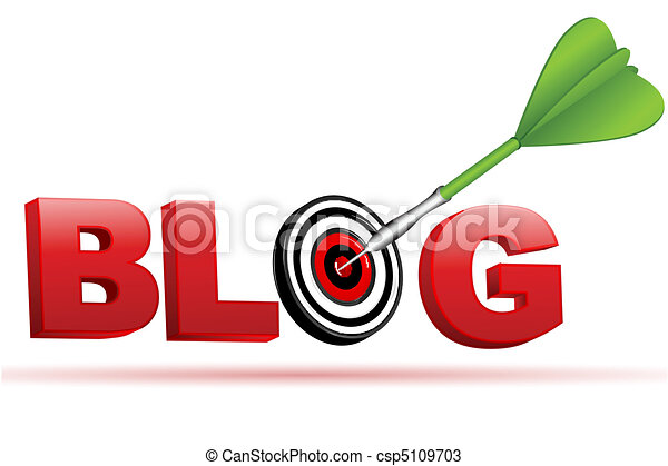 blog sign with target board and arrow - csp5109703
