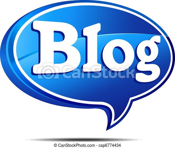 blog, sprechblase - csp6774434