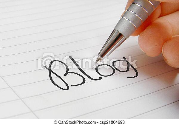 Blog word handwriting - csp21804693