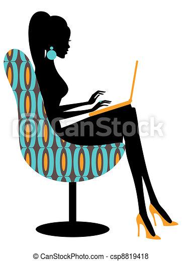 blogger, moda - csp8819418