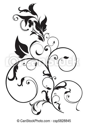 blommig, abstrakt, artistisk - csp5828845