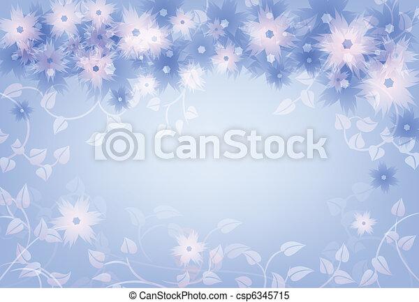 blommig, bakgrund - csp6345715