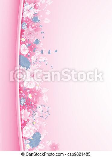blommig, bakgrund - csp9821485