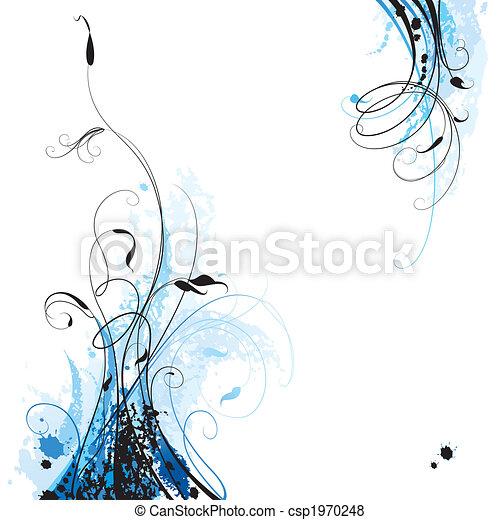 blommig, bakgrund - csp1970248