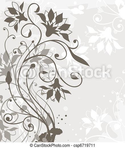 blommig, bakgrund - csp6719711