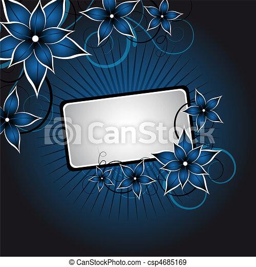 blommig, sammandrag formge - csp4685169