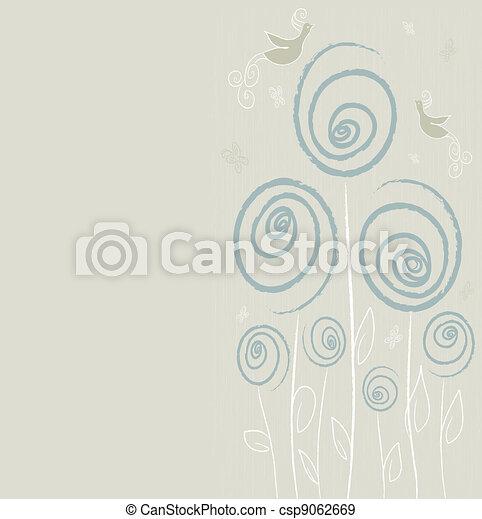 blommig, sommar, design, bakgrund - csp9062669