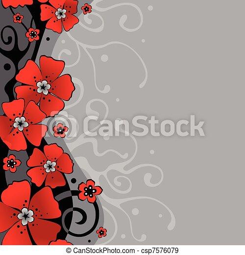 blomningen, bakgrund - csp7576079