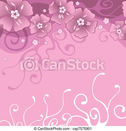 blomningen, bakgrund - csp7575901