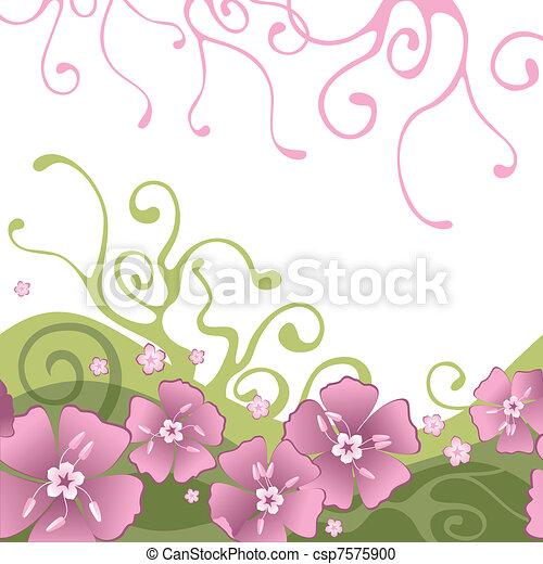 blomningen, bakgrund - csp7575900