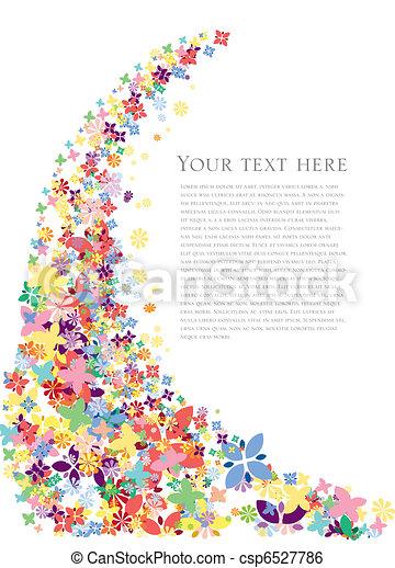 blomningen, fjäder, bakgrund - csp6527786