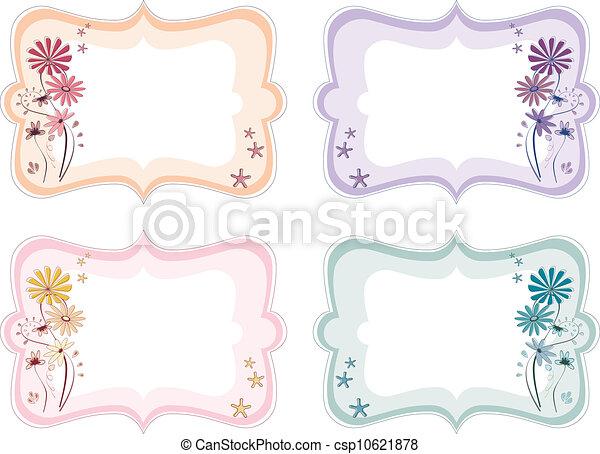 blomstrede, farver, forskellige, etiketter - csp10621878
