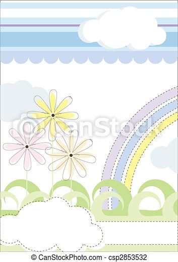blomstrede, pastel, colours., illustration - csp2853532