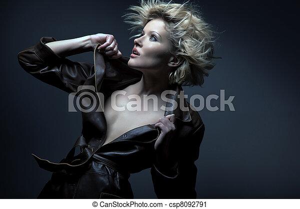 Blond beauty portrait - csp8092791