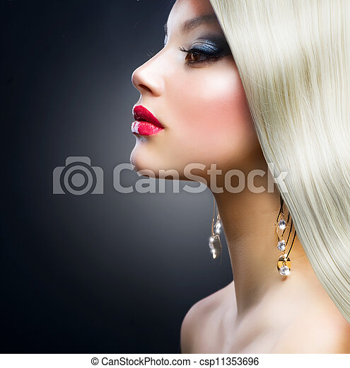Blond Fashion Girl  - csp11353696