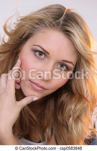 Blond girl  - csp0583848