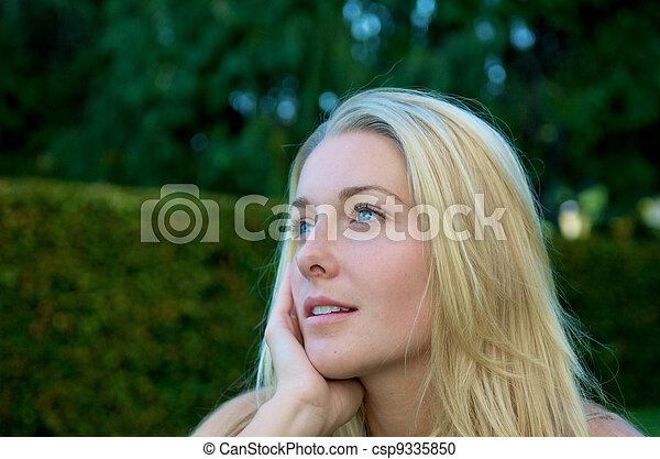 Blond  in nature - csp9335850