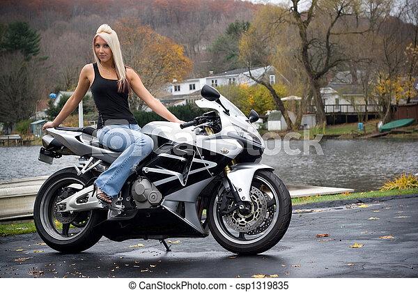 Blonde Biker Chicks