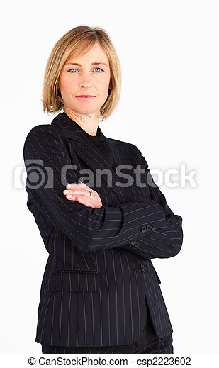 Blonde businesswoman with crossed arms - csp2223602