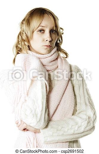 Blonde feeling blue - csp2691502