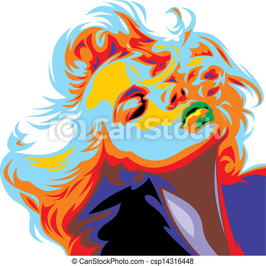 blonde girl look like Marilyn Monroe - csp14316448