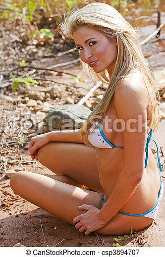 blonde bikini beaches
