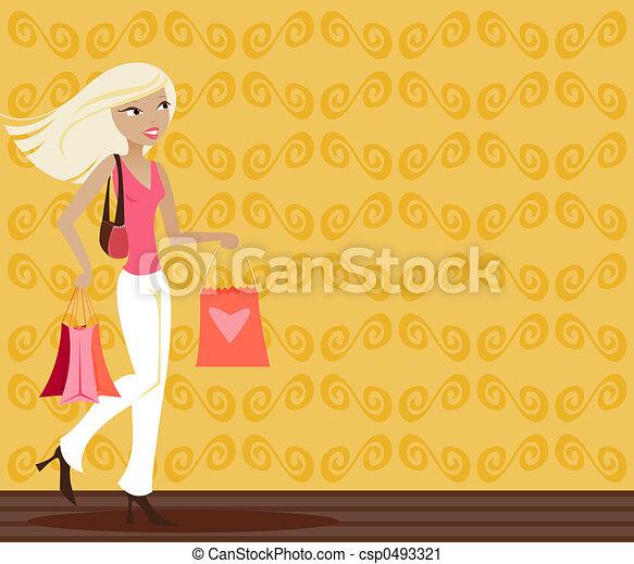 Blonde Shopper - csp0493321