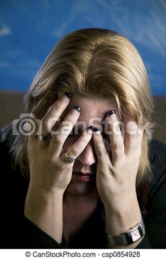 Blonde Woman in Despair - csp0854928