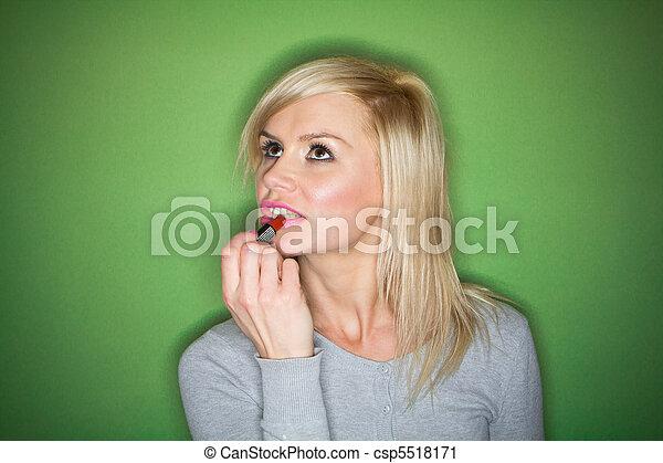 blonde woman - csp5518171