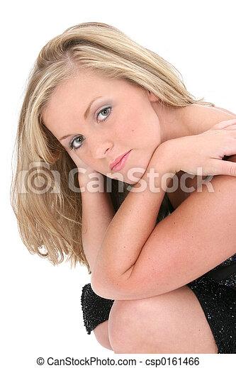 Blonde Woman Teen - csp0161466