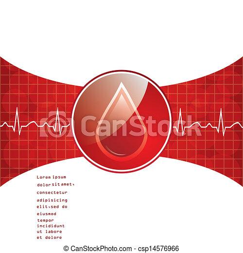 Blood donation background. - csp14576966