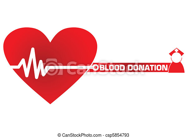 Blood Donation Concept Illustration in Vector - csp5854793