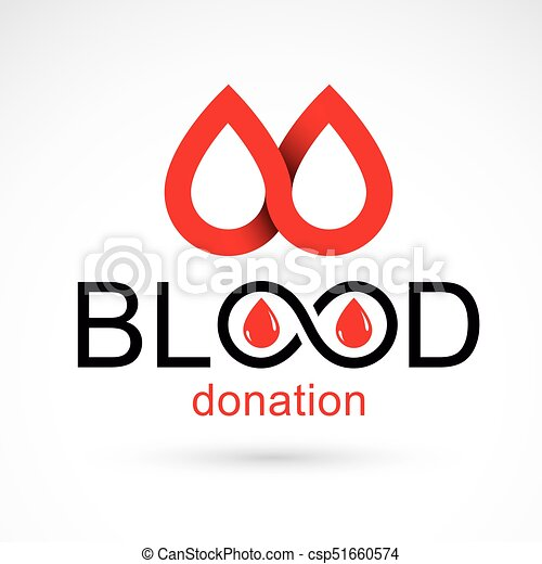 Blood Donation Concept Vector Graphic Illustration Isolated On White