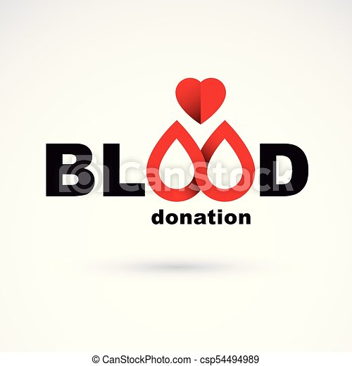 Blood Donation Conceptual Illustration World Blood Donor Day Logotype