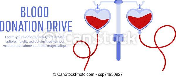 Blood donation drive design poster - csp74950927