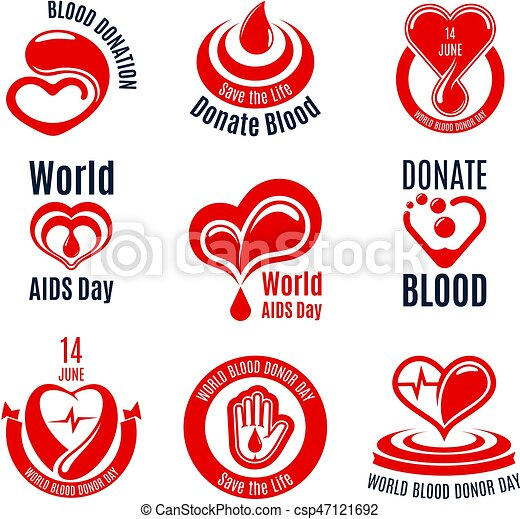 Blood Donation Icon With Red Heart Drop And Hand Blood Donation
