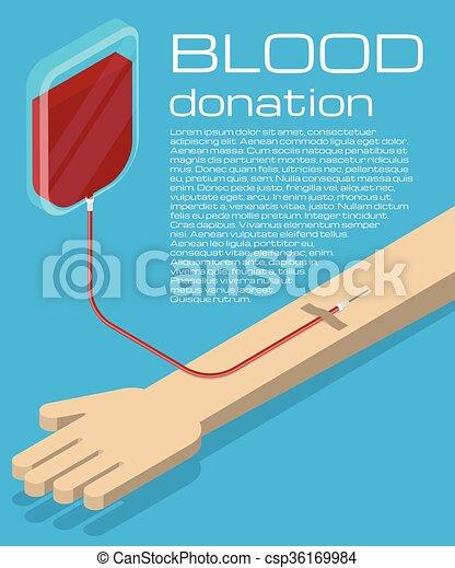 Blood donation illustration - csp36169984
