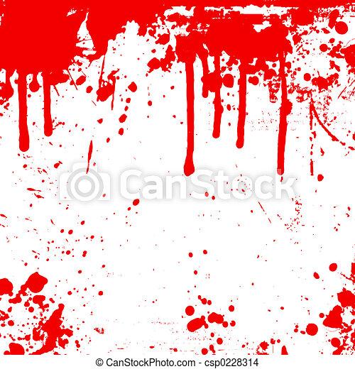 Blood drips  - csp0228314
