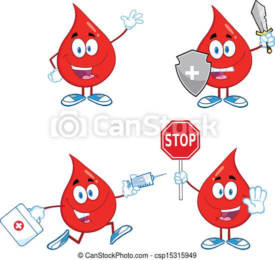Blood Drop Set Collection 2 - csp15315949