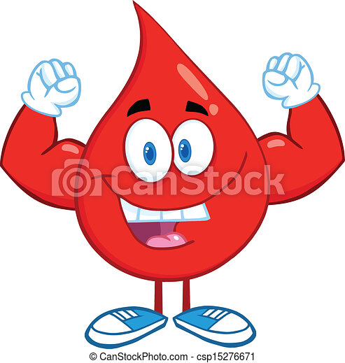 Blood Drop Showing Muscle Arms - csp15276671