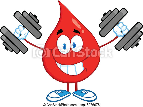 Blood Drop Training With Dumbbells - csp15276678