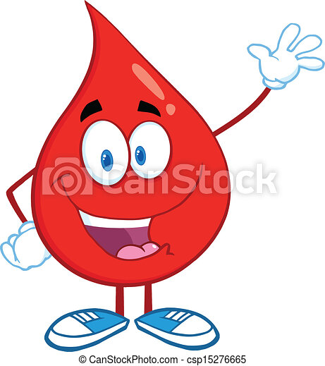 Blood Drop Waving For Greeting - csp15276665