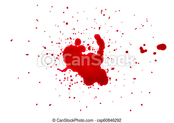 blood drops on a white background - csp60846292