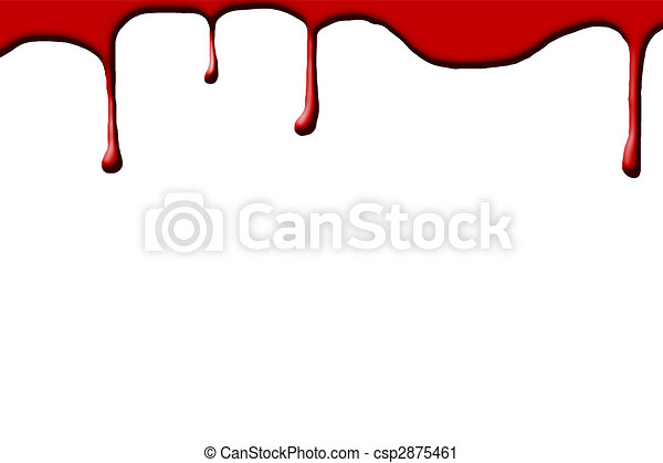 Blood drops on white background - csp2875461