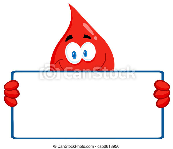 Blood Guy Holding A Blank Sign - csp8613950