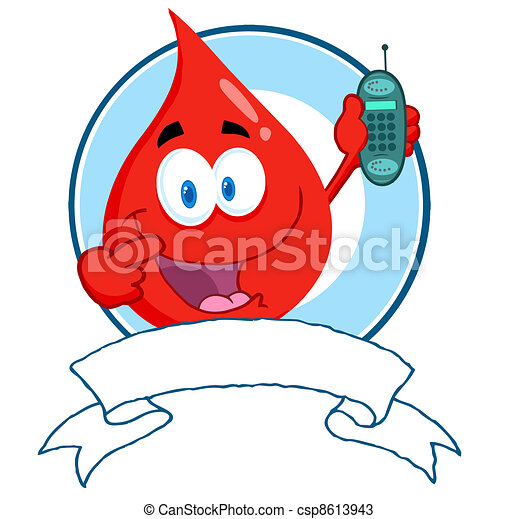 Blood Guy Holding A Cell Phone - csp8613943