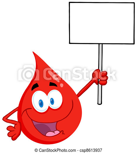 Blood Guy Holding Up A Blank Sign - csp8613937