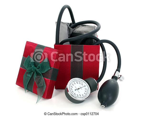 Blood Pressure Cuff in a Gift Box - csp0112704